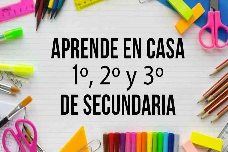 Canales de Aprende en Casa Secundaria Mexico