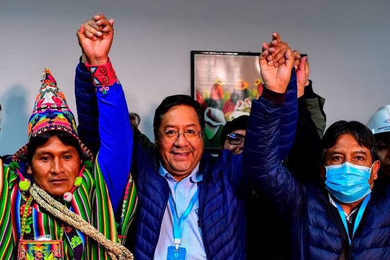 Luis Arce ganó las elecciones en Bolivia y se convirtió en el nuevo presidente de la nación. Foto: AFP.