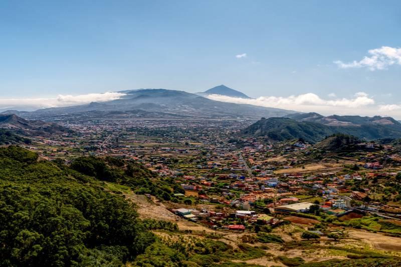 Imagen aérea del Estado de Caracas, Venezuela.