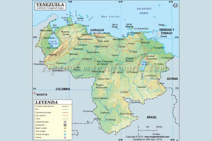 situación astronómica de Venezuela
