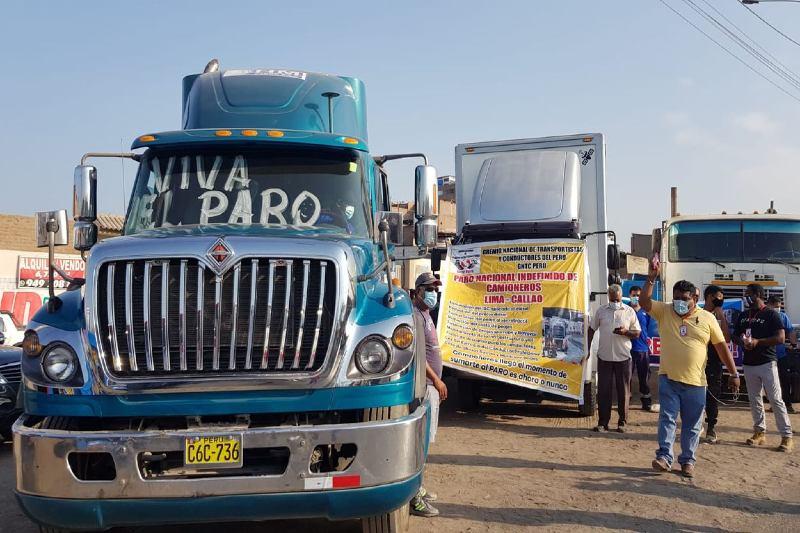 paro de transportistas en perú